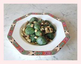 gnocchi verdi agli champignon