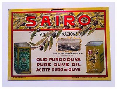Olio di Oliva a Imperia targa pubblicitaria della SAIRO