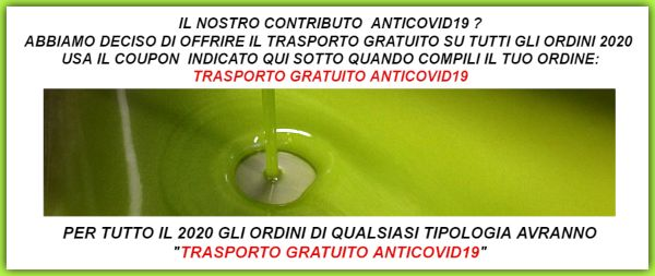 COUPON TRASPORTO GRATUITO ANTICOVID19_600X250